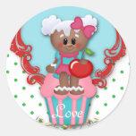 Cute Cupcake Bakery Love Baby Shower Kids Sticker
