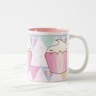 Cute Cupcake Bunting Pattern Mugs