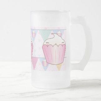 Cute Cupcake Bunting Pattern Beer Mugs