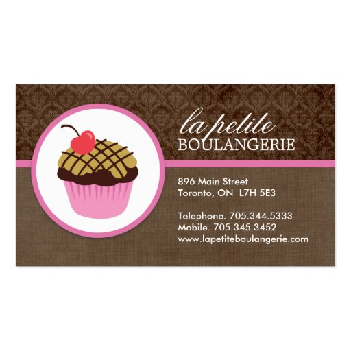 cute cupcake business cards zazzle. Black Bedroom Furniture Sets. Home Design Ideas