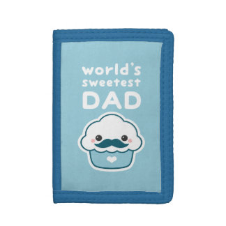 Cute Cupcake Dad Tri-fold Wallet