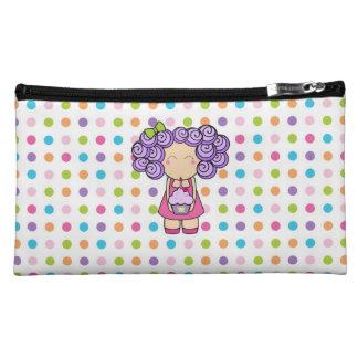 Cute Cupcake Girl Cosmetic Bag