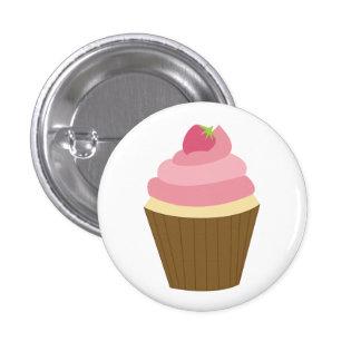Cute Cupcake Illustration 3 Cm Round Badge