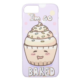 """Cute Cupcake """"I'm So Baked"""" iPhone 8/7 Case"""