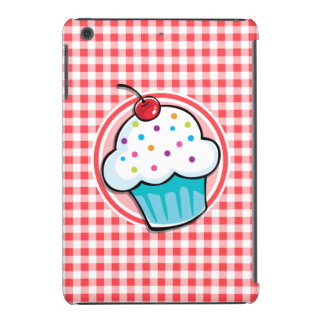Cute Cupcake on Red and White Gingham iPad Mini Case