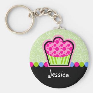 Cute Cupcake Personalised Keychain