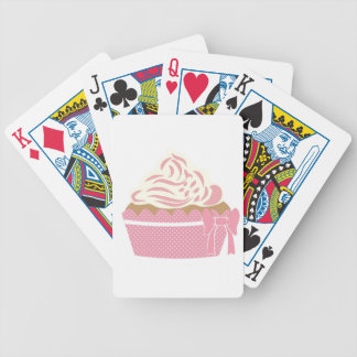 Cute Cupcake Pink Bicycle Playing Cards