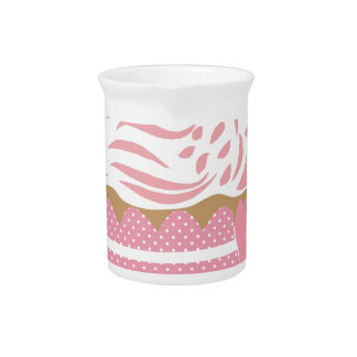 Cute Cupcake Pink Pitcher