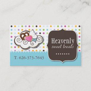 Cute cookie business cards zazzle au cute cupcake pretzel and cookie business card colourmoves