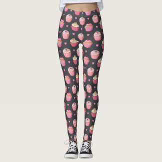 Cute Cupcake Print Leggings