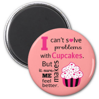 Cute Cupcake quote, Happiness 6 Cm Round Magnet