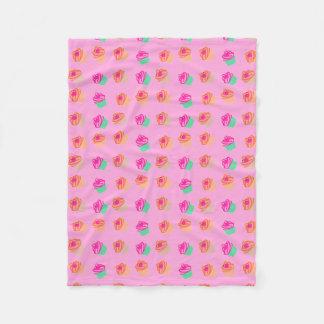 Cute Cupcakes Fleece Blanket