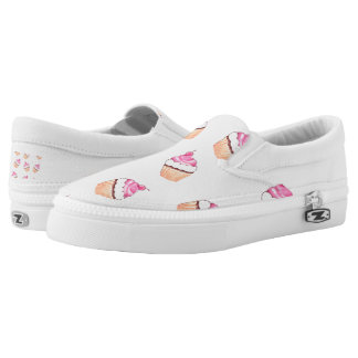 Cute Cupcakes Little Colorful Cakes Slip-on Shoes