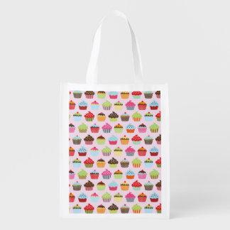 Cute Cupcakes Reusable Grocery Bag