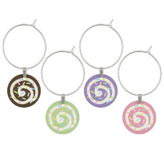 Cute Cupcakes Sprinkles Frosting Decorations Wine Charm