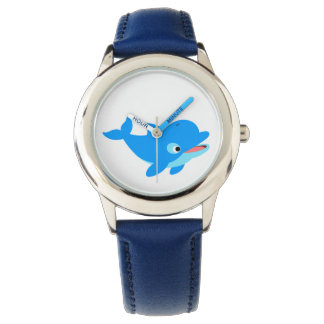 Cute Curious Cartoon Dolphin Watch