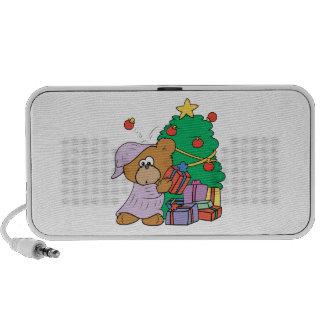 cute curious christmas bear notebook speaker