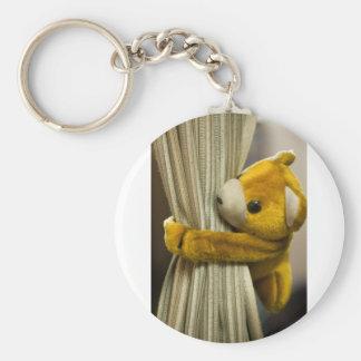 Cute curtain toy key chain