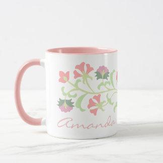 Cute custom delicate floral mug