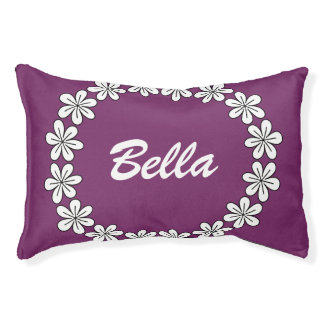 Cute custom dog bed with personalizable pet name