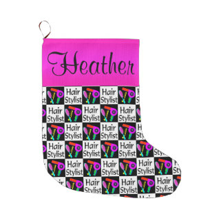 CUTE CUSTOM HAIR STYLIST CHRISTMAS STOCKING
