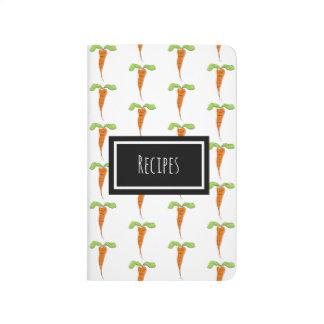 Cute Custom Name Recipe Carrot Notebook Journal