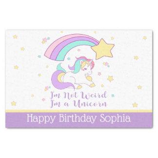 Cute Custom Personalised Magical Rainbow Unicorn Tissue Paper