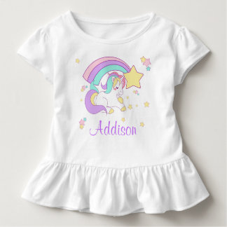 Cute Custom Personalized Magical Rainbow Unicorn Toddler T-Shirt