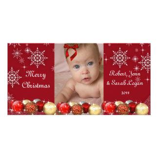 Cute, Custom, Photo Christmas Card Photo Card Template