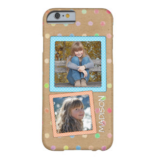 Cute Custom Polkadots Pattern Your Photos Name Barely There iPhone 6 Case