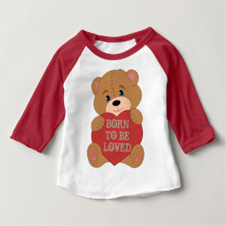 Cute custom teddy bear monogrammed baby T-Shirt