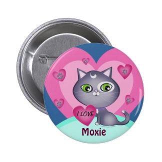 Cute Custom Valentine s Day Cat Love Button