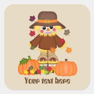 Cute customisable scarecrow Seasonal Fall sticker