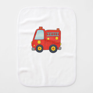 Cute Customizable Firetruck Burp Cloth