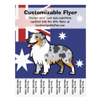 Cute Customizable Pet on Country Flag 21.5 Cm X 28 Cm Flyer