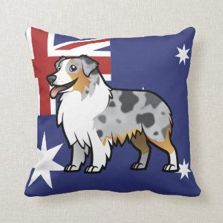 Cute Customizable Pet on Country Flag Cushions