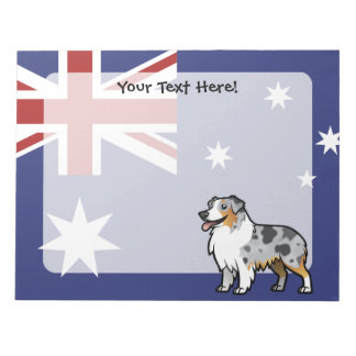 Cute Customizable Pet on Country Flag Notepad
