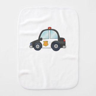 Cute Customizable Police Car Burp Cloth