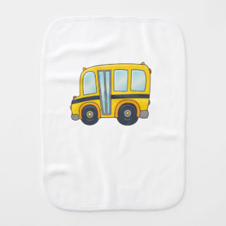 Cute Customizable School Bus Burp Cloth
