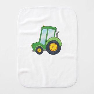 Cute Customizable Tractor Burp Cloth