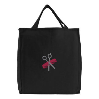 Cute Customizble Hair Stylist Tote Bags - Pink
