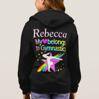 CUTE CUSTOMIZED PERSONALIZED GYMNAST GIRL HOODIE