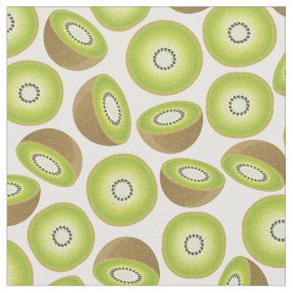 Cute Cut Kiwi Pattern Fabric