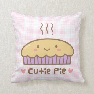 Cute Cutie Pie Food Doodle Room Decor Cushion