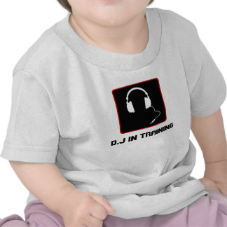 Cute D J in training shirt for toddlers