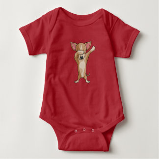 Cute Dab Chihuahua Dabber Dance Baby Bodysuit