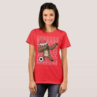 Cute Dabbing Sloth Soccer Ugly Christmas Sweater