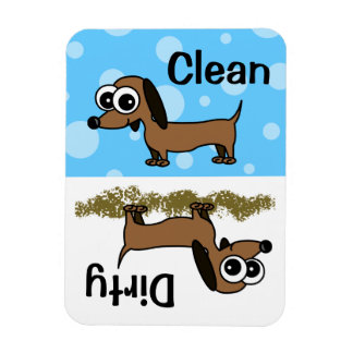 Cute Dachshund Clean / Dirty Dishwasher Magnet