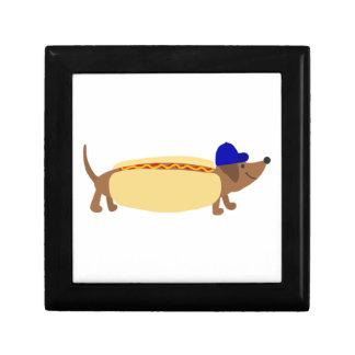 Cute Dachshund Dog in a Hotdog Bun Gift Box