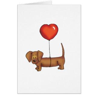Cute Dachshund Gift Card
